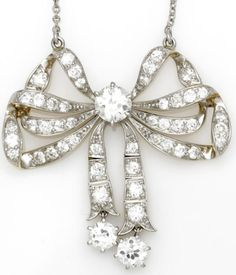 A diamond bow necklace, circa 1910, composed of... | Diamonds in the Library