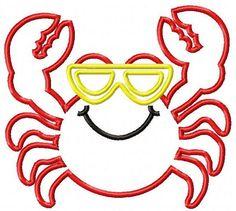 Crab Machine Embroidery Design