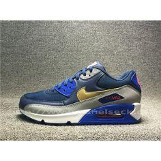 Herre Nike Air Max 90 Navy Grå| airlobeskodk.com Air Max 90, Nike Air Max, Air Max Sneakers, Sneakers Nike, Sports Shoes, Cleats, Navy, Unisex, Fashion