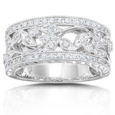 @Overstock - Click here for Ring Sizing Chart Diamond ring crafted of white goldRing has 65 round diamondshttp://www.overstock.com/Jewelry-Watches/14k-Gold-1-4ct-TDW-Diamond-Vintage-Floral-Ring-with-Satin-and-Velvet-Gift-Box-G-H-I1-I2/3644310/product.html?CID=214117 $799.99