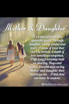 Mother & Daughter bond unbreakable unstoppable