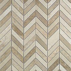 Talon Crema Marfil and Travertine Marble Tile