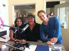 Dr Lange and two of his docs hosting talk show from inside Clearwater Lange Eye Care studios. in sunset plaza location