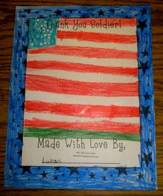 kid crafts for soldiers