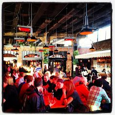 Don't Sit Home: Photo of The Standard Biergarten in the Meatpacking District under The High Line in NYC. #dontsithome
