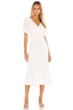 Sweet white dress for spring #affiliate #weddingdress #engagement #brides #bridetowb #whitedress #elopement #bridal