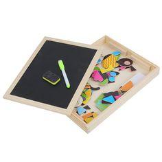 ค้นเจอแล้ว ราคาถูกมากกกก Wooden Writing Magnetic Drawing Board Puzzle Toy สินค้าในกระแส ส่งฟรีถึงบ้าน