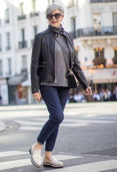Walk the streets of Paris in style with a fresh fall outfit from Nordstrom Holiday Outfits, Winter Outfits, Casual Outfits, Over 60 Fashion, Fashion Over 50, Faux Leather Pants, Paris Street, Denim Outfit, Autumn Fashion