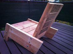 modern/vintage reclaimed wood deck chair by betogonzwood on Etsy, $275.00