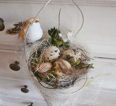 Shabby-Chic Tüte Ein Vöglein bewacht seine Eier  von *La Isla Sun*  auf DaWanda.com