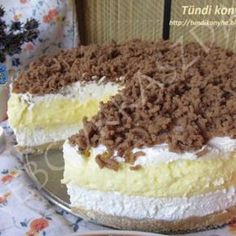 Sütés nélküli tejbegríztorta Crazy Cakes, No Bake Treats, Greek Recipes, Cake Cookies, Food To Make, Cake Recipes, Breakfast Recipes, Food And Drink, Sweets