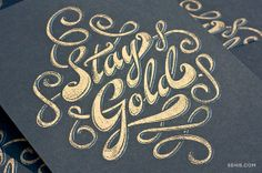 Stay Gold Screen Print by Fifty Five Hi's. The Outsiders love.