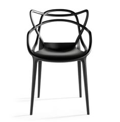 The Masters chair designed by Phillipe Starck for Kartell pays homage to three contemporary design icons, and through a fusion of styles, creates a stylistic summation. The Series 7 by Arne Jacobsen, the Tulip arm chair by Eero Saarinen, and the Eiffel chair by Charles Eames weave into a most engaging and sinuous hybrid.