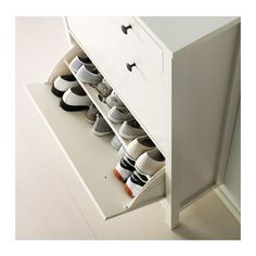 HEMNES Shoe cabinet with 2 compartments - white - IKEA