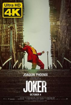 Joker is a 2019 American psychological thriller film directed by Todd Phillips, who co-wrote the screenplay with Scott Silver. The film, based on DC Comics characters, stars Joaquin Phoenix as the Joker. Joker Full Movie, The Joker, Joker Film, Joker Full Hd, Movies 2019, Hd Movies, Movies To Watch, Movies Online, Movie Tv