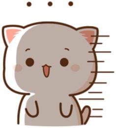 Cute Cartoon Pictures, Cute Love Cartoons, Cute Images, Cute Bear Drawings, Chibi Cat, Cute Love Gif, Cute Bears, Akatsuki, Animated Gif