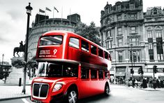 Red London Bus Wallpaper 2560×1600 - High Definition Wallpaper | Daily Screens id-6834