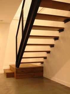 mid century modern floating staircase - Google Search