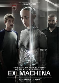 Ex Machina (2015)  I loved this quiet and thought provoking sci fi film - fantastic performances. A cast to watch out for 4 & 1/2 stars