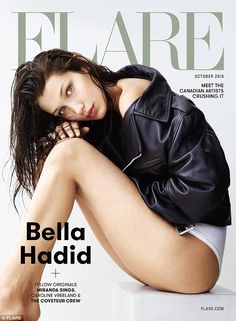 Legs for days: The model wore nothing for bottoms but Calvin Klein underwear for her cover...