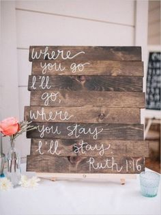 rustic wood pallet wedding sign