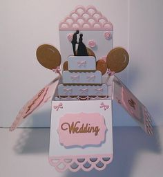 Wedding pop up box card. £4.00 posted.