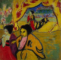 Ernst Ludwig Kirchner / Japanisches Theater [Japanese Theatre] / 1909 / oil on canvas
