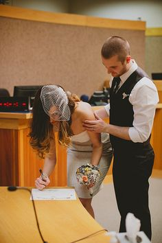 courthouse elopement maybe do this and then a real wedding to make it personal and public