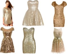 Gold Dresses For New Years Eve By Morganhogue On Polyvore I Wish