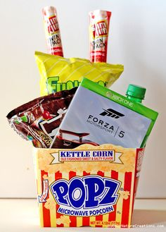 Gamer's Gift Basket! {Snack and Video Games}!