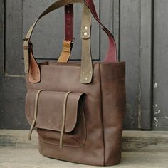 223e6163091a Brown leather Angela Bag handmade by Ladybuq by ladybuq on Etsy
