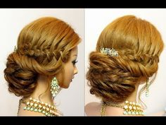 Wedding updo. Bridal hairstyles for long hair with braids. -  My second channel with hairstyles! http://www.youtube.com/womenbeauty1Ru Follow me on: Instagram. My Official Page : http://instagram.com/womenbeauty1hairstyles FACEBOOK: https://www.facebook.com/pages/Womenbeauty1/369029276535217 My channel with drawings- https://www.youtube.com/user/drawtogether1 Music: Chill Wave Kevin MacLeod (incompetech.com) Licensed under Creative Commons: By Attribution 3.0 License http://c