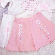 3 Colors Twin Ribbons Pastel Girl Skirt from CutieKill Baby Frocks Designs, Kids Frocks Design, Little Girl Dresses, Girls Dresses, Kids Outfits, Cute Outfits, Kids Dress Patterns, Baby Dress Design, Kawaii Clothes