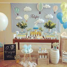 #festabalao #temabalao #festamenino #ludepinnadecora Parabéns a mamãe @licardosoreis por todo esforço, empenho e pelos personalizados lindos! Baby Shower Signs, Baby Shower Themes, Baby Boy Shower, Baby Shower Balloons, Birthday Balloons, Sweet Buffet, Baby Shower Souvenirs, Boy Decor, Hot Air Balloon