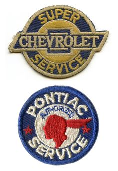 Vintage embroidered patches.