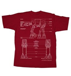 Fifth Sun Star Wars ATAT Walker Mens Red TShirt 2XLarge ** Check this awesome product by going to the link at the image.