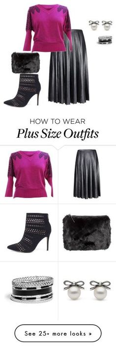 """plus size fall/winter lux/holiday ready"" by kristie-payne on Polyvore featuring Ted Baker, H&M and GUESS by gayle"