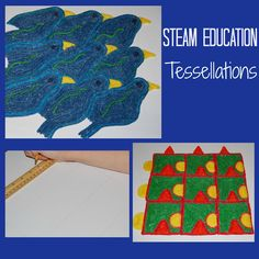 STEAM for Kids:  Exploring and Constructing Tessellations #MCESCHER #Arted #STEM #STEAMEducation
