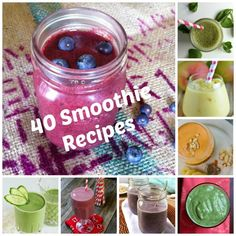 40 Delicious Smoothie Recipes  to start the New Year off right // A Cedar Spoon