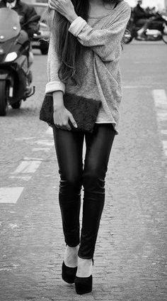 Sweater, gray, urban