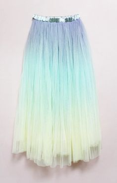 pastel ombre skirt. Don't know what id wear with it but love it anyway!