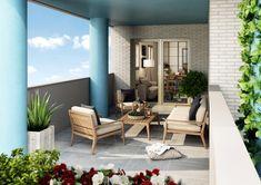Terrazas cubiertas para mayor confort. Patio, Outdoor Decor, Ideas, Home Decor, Home Interior Design, Home Interiors, Deck Decorating, Decks, Scenery
