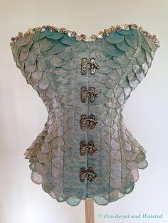 La Sirène The Mermaid Corset by PowderedandWaisted on Etsy