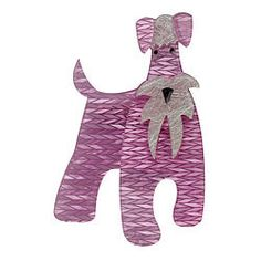 So cuuute - The Schnauzer and Klaus Brooch