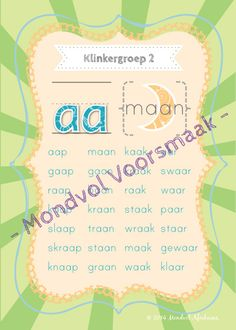 English Phonics, School Posters, Vowel Sounds, Afrikaans, Child Development, Pre School, Homeschool, Projects To Try, Language