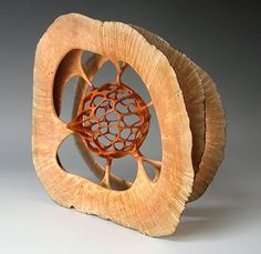 """Alain Mailland's green wood hollowing techniques allow him to heartily celebrate life and the """"secret wonders of the burls and roots of the South of France."""""""