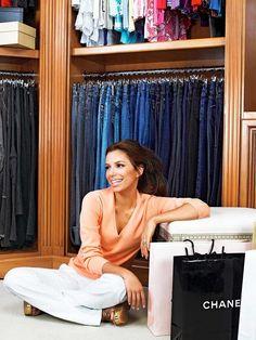 Eva Longora shares her closet and denim organization...a girl after my own heart!!!