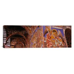 "East Urban Home Panoramic Rila Monastery, Bulgaria Photographic Print on Canvas Size: 16"" H x 48"" W x 0.75"" D"