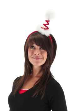 85b199ba2983a Cocktail Springy Santa Headband - Spread the holiday cheer with this fun  Christmas headband. This