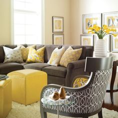 Black White And Yellow Living Room Ideas